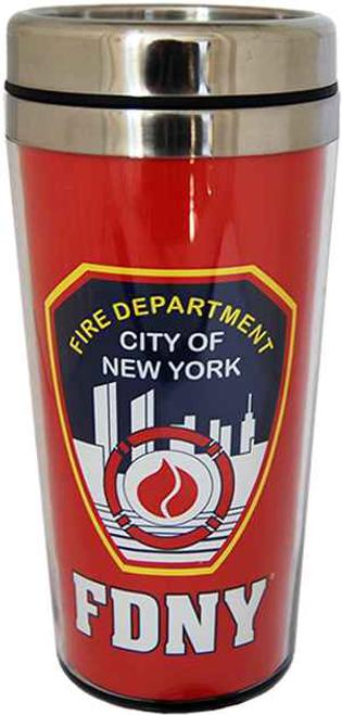 FDNY Red Steel Travel Mug