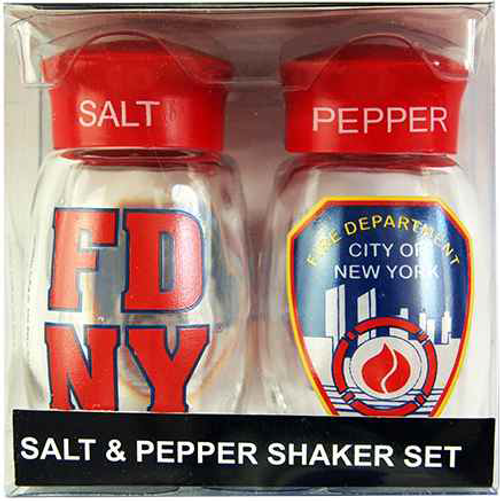 FDNY Glass Clear S&P Shaker Set