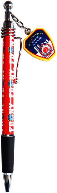 FDNY Red/ Shield Dangle Double Sided Pen