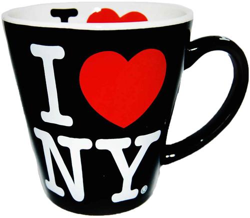 I Love NY Black/ White Inside Full Print Java Mug