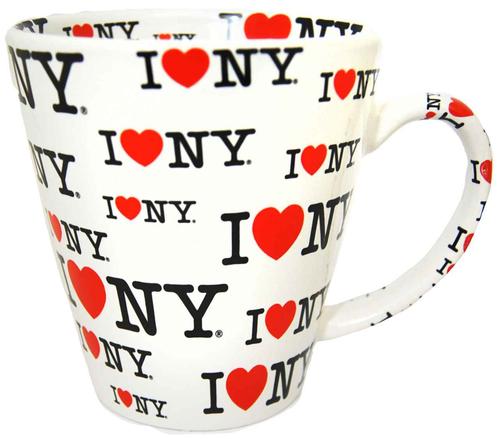 I Love NY White/ White Inside Full Print All Over Java Mug