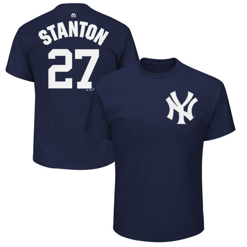 Giancarlo Stanton T-Shirt - Navy NY Yankees Adult T-Shirt