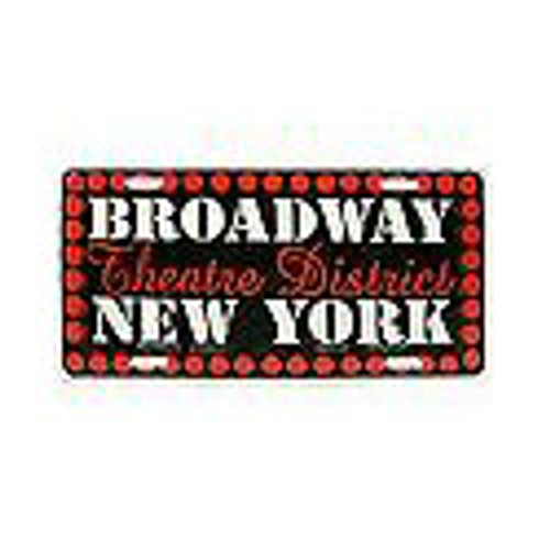 Broadway Lights NY License Plate