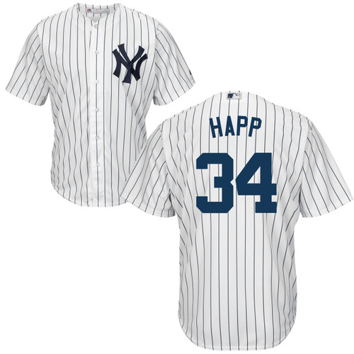 J.A. HAPP Youth Jersey - NY Yankees Replica Kids Home Jersey