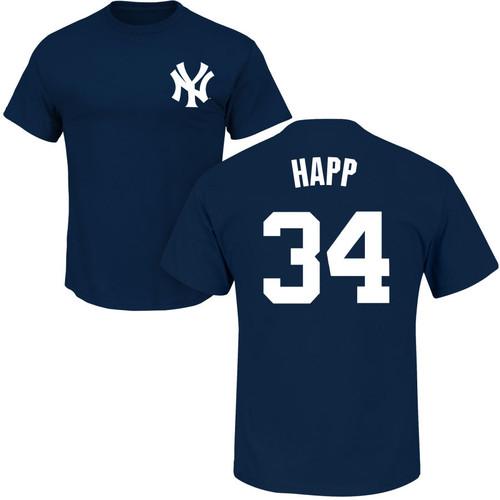 J.A. HAPP T-Shirt - Navy NY Yankees Adult T-Shirt