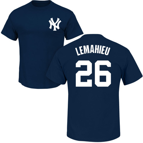 DJ Lemahieu T-Shirt - Navy NY Yankees Adult T-Shirt