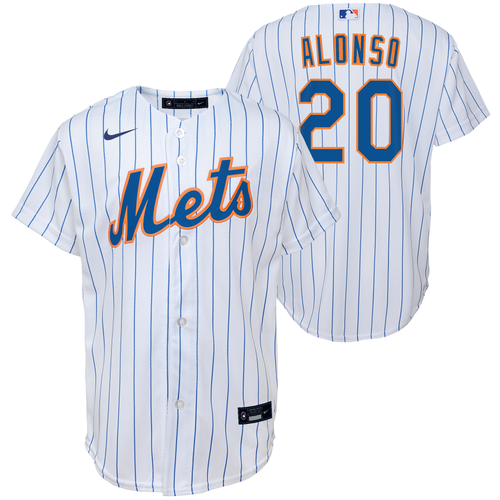 Pete Alonso Youth Jersey - NY Mets Replica Kids Home Jersey