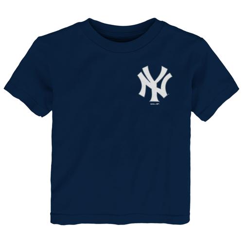 Yankees Navy Wordmark Baby Tee