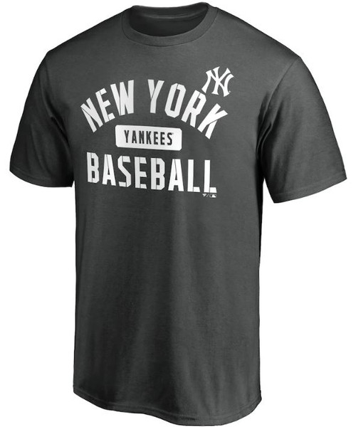 NY Yankees Primary Pill Charcoal T-Shirt