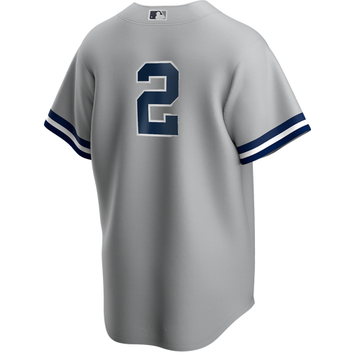 Derek Jeter No Name Road Jersey - Number Only Replica by Majestic