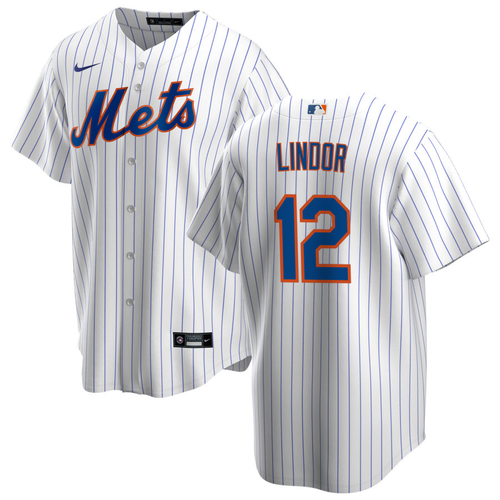Francisco Lindor Youth Jersey - New York Mets Replica Kids Home Jersey