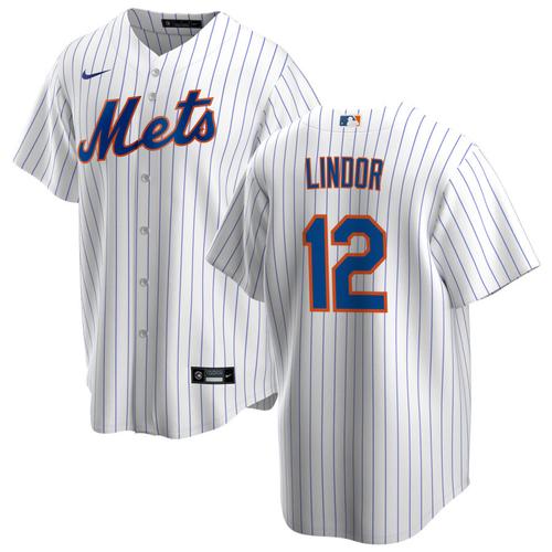 Francisco Lindor Jersey - New York Mets Replica Adult Pinstripe Jersey