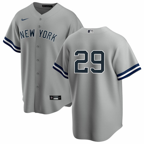 Gio Urshela No Name Road Jersey - Number Only Replica Yankees Road Jersey