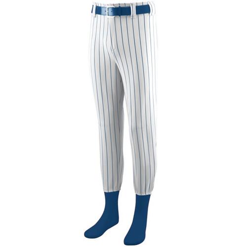 Adult pinstripe baseball pants with socks