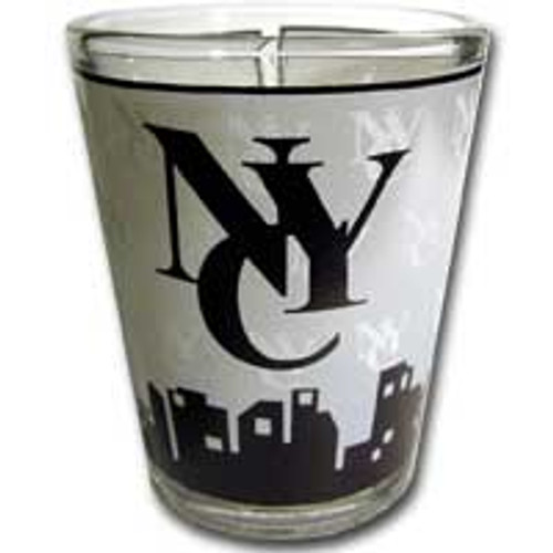NYC Interlocking Skyline Shotglass