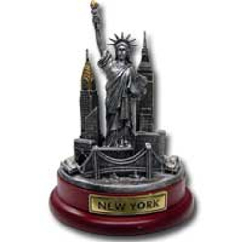 NY Skyline Pewter Paper Weight