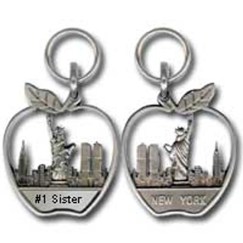 #1 Sister Apple Zipper Pull
