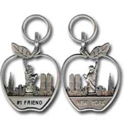 #1 Friend Apple Zipper Pull