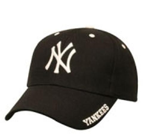"Yankees Black ""Frost"" Adjustable Cap"