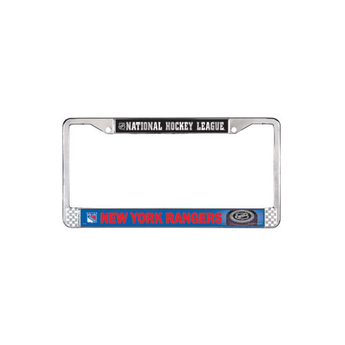 New York Rangers Metal License Plate Frame