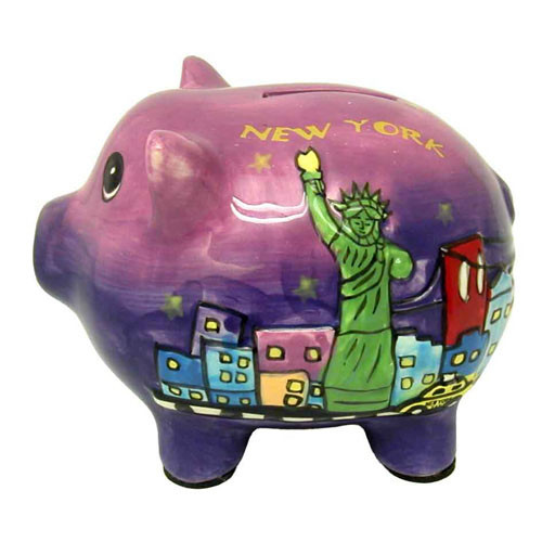 Statue of Liberty Ceramic Piggy Bank