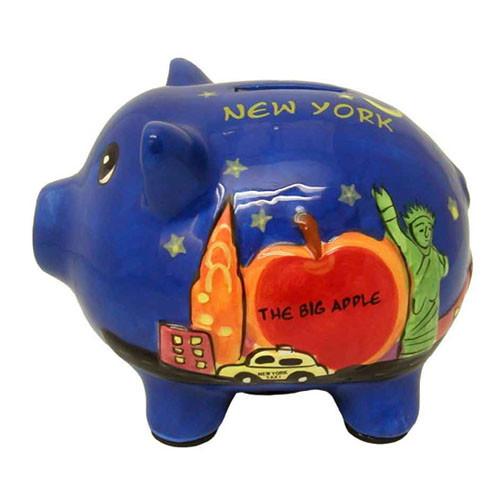 NYC Big Apple Piggy Bank