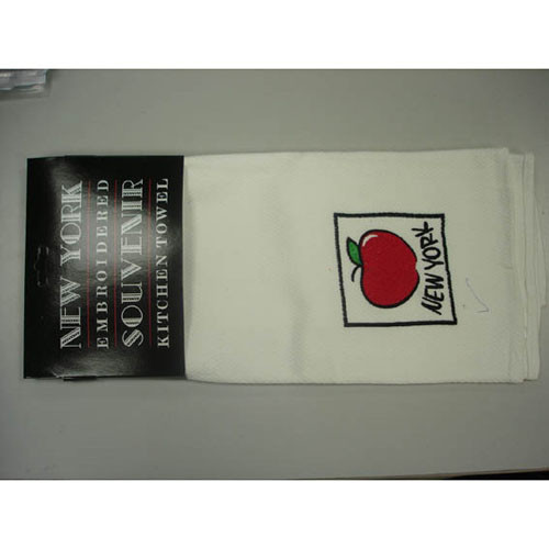 NYC Big Apple Embroidered Kitchen Towel