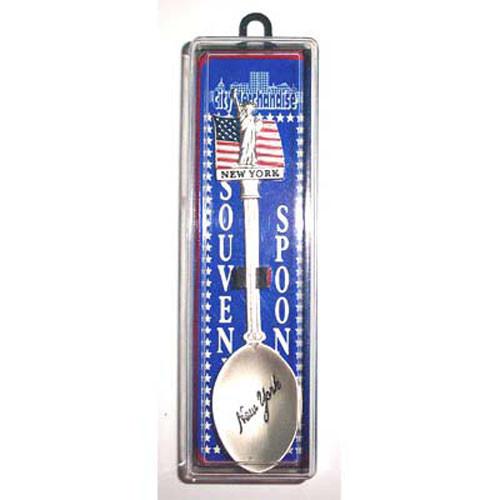 Statue of Liberty w/Flag Souvenir Spoon