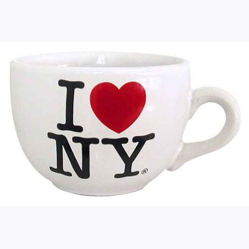 I Love NY White Soup Mug