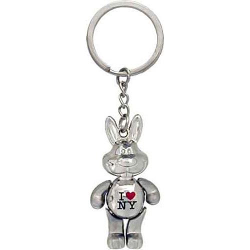 I Love NY Rabbit Keychain