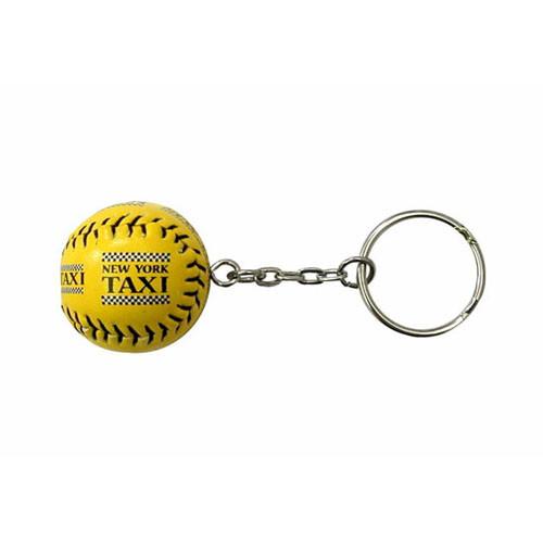 NYC Taxi Yellow Baseball Keychain