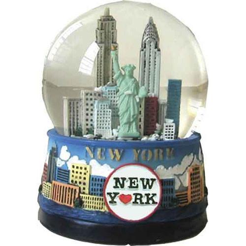 """NYC """"Blue Skies"""" 45mm Snowglobe"""