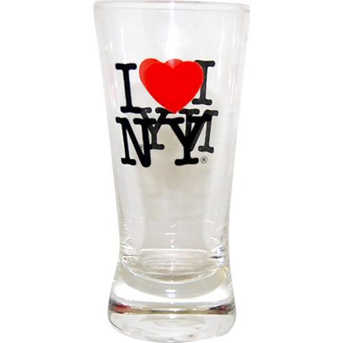 I Love NY Glass Tulip Shot Glass