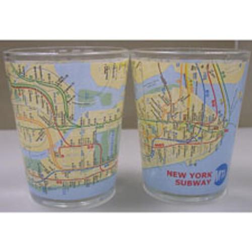 NYC Subway Map Shot Glass