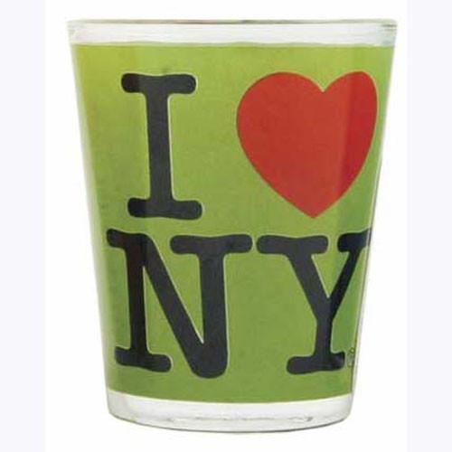 I Love NY Green Shot Glass