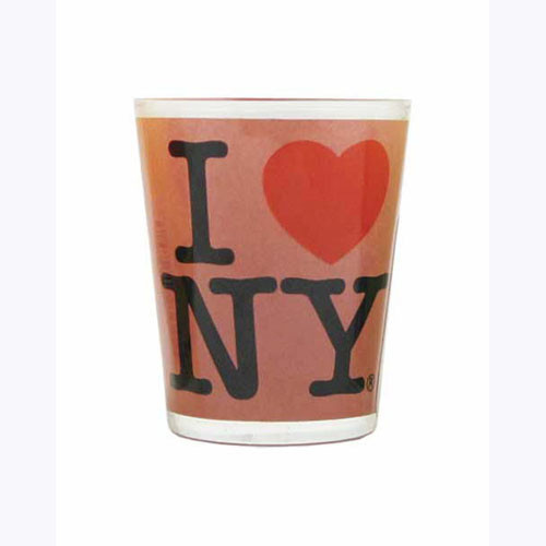 I Love NY Pink Shot Glass