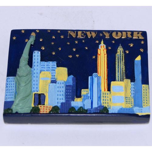NYC Night Skyline Poly Magnet