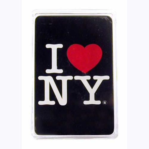 I Love NY Black Playing Cards