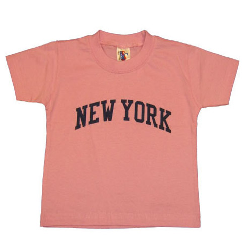 New York Pink Baby Tee