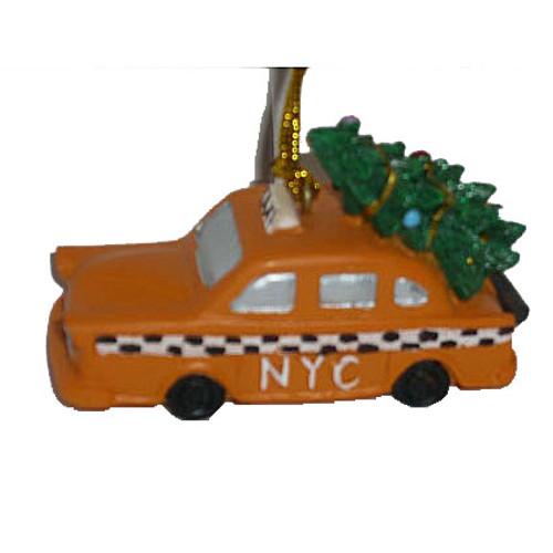Christmas Tree Taxi NYC Christmas Ornament