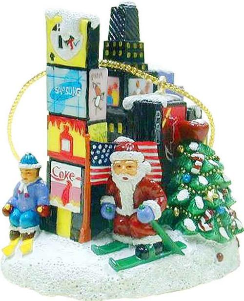 Santa in Times Square Christmas Ornament