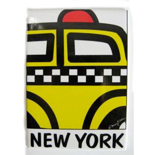 "NYC "" Cartoon Taxi"" Magnet"