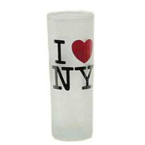 I Love NY Frosted Shooter Glass