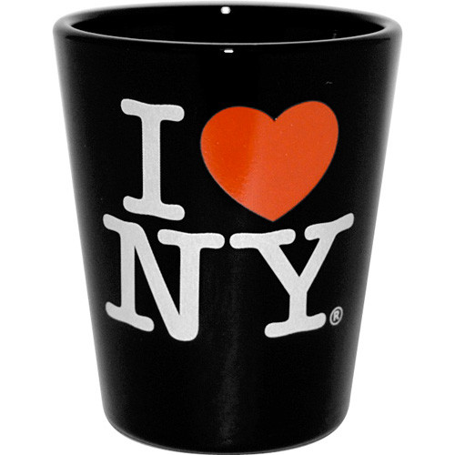 I Love NY Black Shot Glass