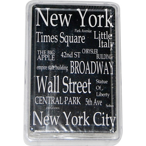 """NYC """"White Letters"""" Playing Cards"""