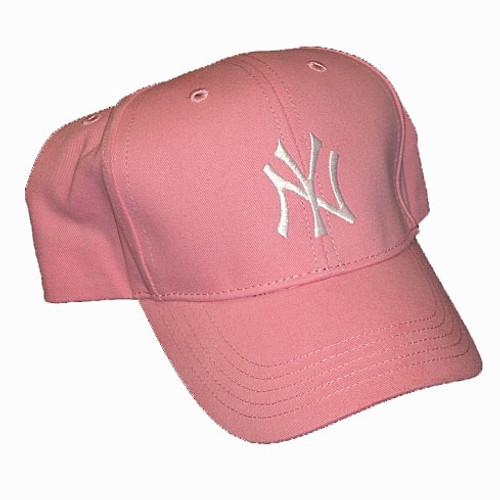 Yankees Kids Pink Adjustable Cap