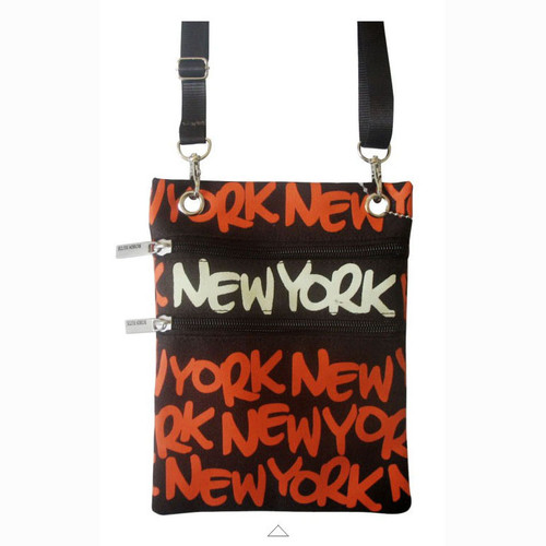 Orange New York Neck Wallet