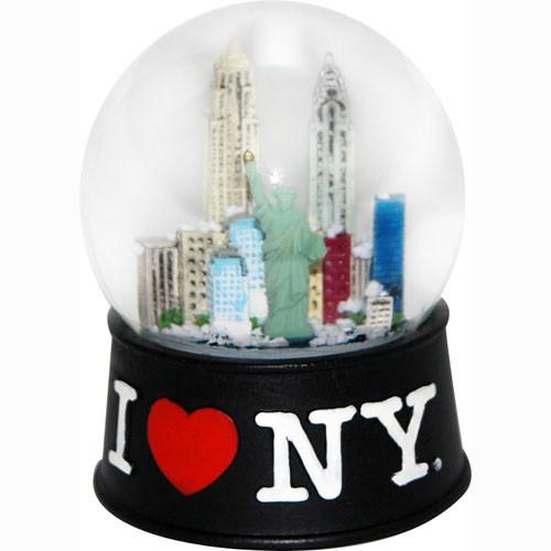 I Love NY Black 65mm Snowglobe