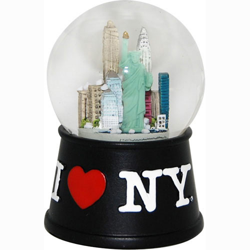 I Love NY Black 45mm Snowglobe