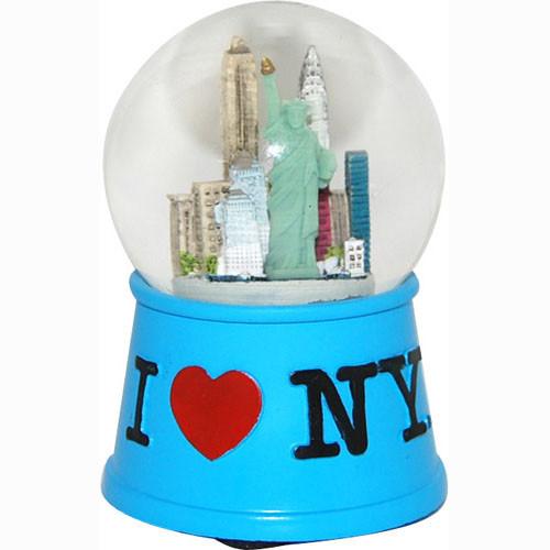 I Love NY Blue 45mm Snowglobe